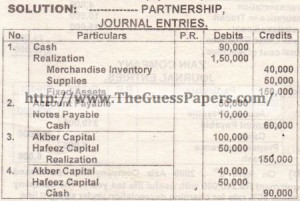 8. PARTNERSHIP - LIQUIDATION