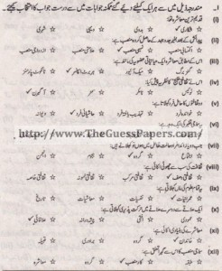 Amraniyat Solved Past Paper 1st year 2013 Karachi Board