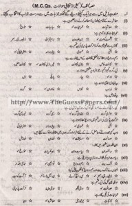 Amraniyat Solved Past Paper 1st year 2015 Karachi Board