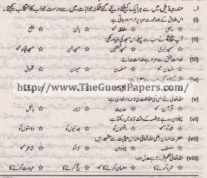 Islamic Studies Solved Past Paper 1st year 2013 Karachi Board
