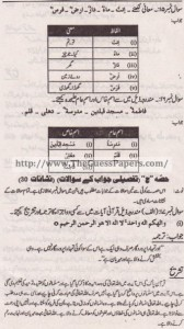 Islamic studies (general group) Solved Past Paper 10th Class 2014 Karachi Board5
