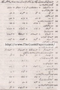 Islamyat Solved Past Paper 1st year 2012 Karachi Board