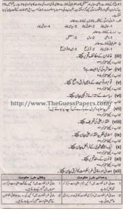 Madniyat Solved Past Paper 1st year 2011 Karachi Board2