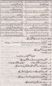 Madniyat Solved Past Paper 1st year 2011 Karachi Board3