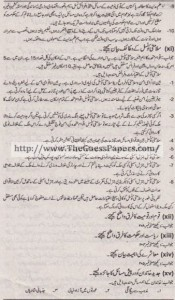 Madniyat Solved Past Paper 1st year 2013 Karachi Board4