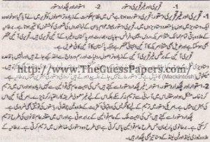 Madniyat Solved Past Paper 1st year 2013 Karachi Board6