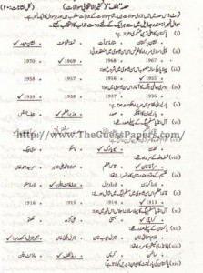 Madniyat Solved Past Paper 2nd year 2012 Karachi Board