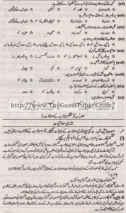 Mashiyat Solved Past Paper 1st year 2011 Karachi Board1