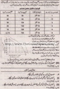 Mashiyat Solved Past Paper 1st year 2011 Karachi Board7