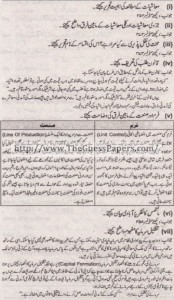 Mashiyat Solved Past Paper 1st year 2012 Karachi Board2