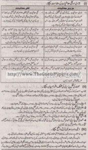 Mashiyat Solved Past Paper 1st year 2014 Karachi Board2