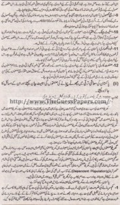 Mashiyat Solved Past Paper 1st year 2015 Karachi Board15