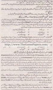 Mashiyat Solved Past Paper 1st year 2015 Karachi Board4