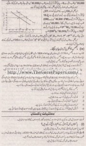 Mashiyat Solved Past Paper 1st year 2015 Karachi Board5