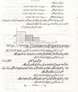 Mashiyat Solved Past Paper 2nd year 2015 Karachi Board