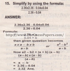 Question no.15
