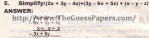 Question no.5