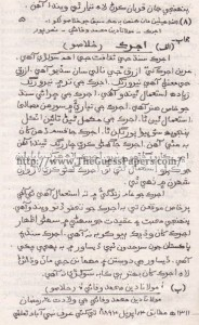 Sindhi (Science) Solved Past Paper 9th Class 2010 Karachi Board