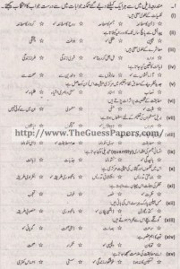 Taleem Solved Past Paper 1st year 2014 Karachi Board