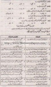 Taleem Solved Past Paper 1st year 2014 Karachi Board1
