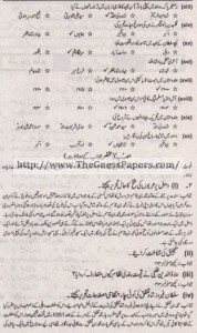 Tarekh-e-Aam Solved Past Paper 1st year 2013 Karachi Board1
