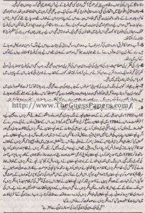 Tarekh-e-Aam Solved Past Paper 1st year 2015 Karachi Board8