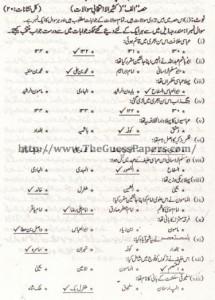 Tarekh-e-Islam Solved Past Paper 2nd year 2012 Karachi Board