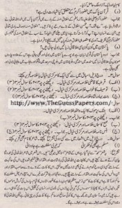 Urdu Solved Past Paper 10th Class 2011 Karachi Board2