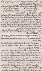 Urdu Solved Past Paper 10th Class 2011 Karachi Board8