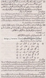 Urdu (ikhteyare) Solved Past Paper 1st year 2013 Karachi Board2