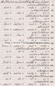 Urdu (ikhteyare) Solved Past Paper 1st year 2015 Karachi Board