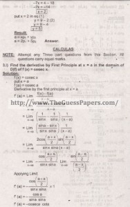 Mathematics Solved Past Paper 2nd year 2015 Karachi Board10