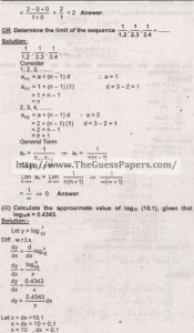 Mathematics Solved Past Paper 2nd year 2015 Karachi Board13