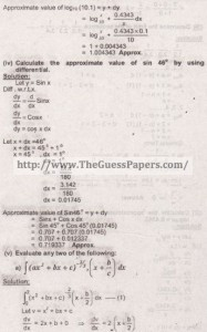 Mathematics Solved Past Paper 2nd year 2015 Karachi Board14