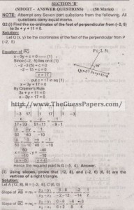 Mathematics Solved Past Paper 2nd year 2015 Karachi Board2