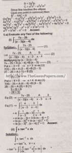 Mathematics Solved Past Paper 2nd year 2015 Karachi Board20