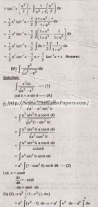 Mathematics Solved Past Paper 2nd year 2015 Karachi Board21