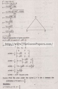 Mathematics Solved Past Paper 2nd year 2015 Karachi Board23