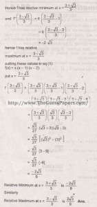Mathematics Solved Past Paper 2nd year 2015 Karachi Board25