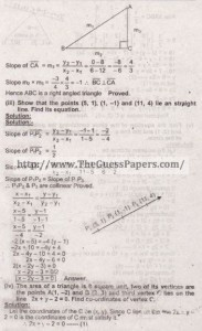 Mathematics Solved Past Paper 2nd year 2015 Karachi Board3