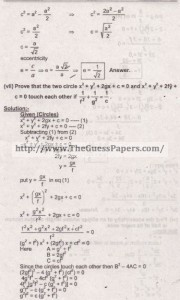 Mathematics Solved Past Paper 2nd year 2015 Karachi Board6