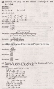 Mathematics Solved Past Paper 2nd year 2015 Karachi Board9