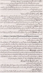 Pakistan Studies in urdu Solved Past Paper 2nd year 2014 Karachi Board3