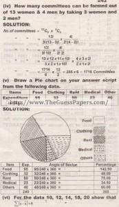 STATISTICS Solved Past Paper 2nd year 2014 Karachi Board (Regular)2