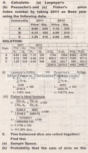 STATISTICS Solved Past Paper 2nd year 2014 Karachi Board (Regular)5