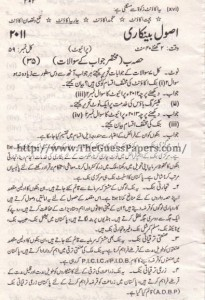 USOOL-E-TIJARAT Past Paper 2nd year 2011 (Private) Karachi Board