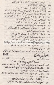 USOOL-E-TIJARAT Past Paper 2nd year 2012 (Regular) Karachi Board