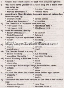 solved MCQs english 2015 2nd year
