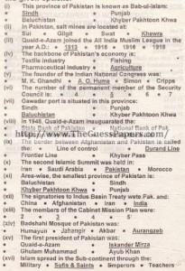 solved MCQs pak study 2015 Regular and Private